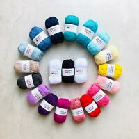 1kg 100% cotton 4ply yarn gift set Oeko-Tex® amigurumi knitting crochet 20pcs