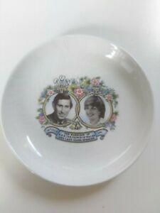 Royal Victoria Prince Charles and Lady Diana 1981 Wedding Commemorative Plate