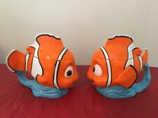 2 Disney On Ice Finding Nemo Cup 3D Mug Plastic Stein Lid Orange Clown Fish NEW