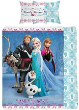 Disney Frozen Family Forever Single Panel Duvet Cover Bed Set Elsa Anna Olaf Sve