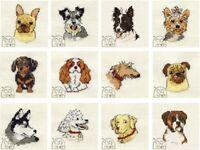 Mouseloft Paw Prints miniature Counted Cross Stitch Kits dog breeds