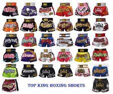 New Top King Muay Thai MMA K1 Kick Boxing Shorts Satin Normal & Retro S M L XL