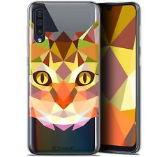 """Gel Case Cover for Samsung Galaxy A50 (6.4 """") Extra Fine Polygon Animals - Cat"""