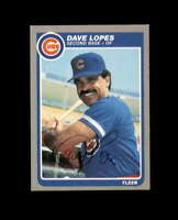 Dave Lopes Hand Signed 1985 Fleer Chicago Cubs Autograph