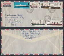 1969 UAE Sharjah Field Post Office 1057, cover to USA, NAVI SHIPS [cm451]