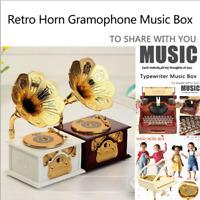 Antique Classical Retro Gramophone Music Box Home Decoration Creative Gift Y