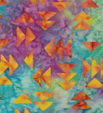 Orange Arrows-Multi Colored Batik Fat Quarter By Batik Textiles-Hand Dyed