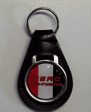 Reproduction Vintage Merc Snowmobile Logo Medallion Leather Keychain