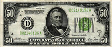 1928-A $50.00 Federal Reserve Note - FR# 2101-D - Cleveland - D02140196A  VF/XF+