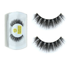 100%Real Mink Natural Thick False Fake Eyelashes Eye Lashes Makeup Extension AB