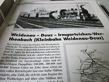 Neben - Schmalspurbahnen 8 Weidenau Deutz Irmgartenteich Werthenbach 44S