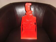 Cat in the Hat Dr. Seuss Plastic Book End Rack Holder Red Sample 1955 Vintage
