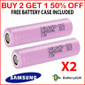 2 GENUINE Samsung 18650 Lithium Batteries 30Q 3000mAh 15A Battery **FREE CASE**
