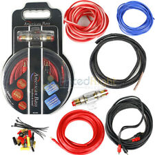 American Bass 8 Gauge Amplifier Wiring Install Kit High Flexible Cables Ab-Ak8