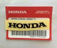 Honda marque 60mm Noir Autocollant Logo Badge 100 Original