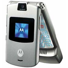 NEW MOTOROLA RAZR V3A VERIZON SILVER 3G CDMA PREPAID THIN FLIP CELLULAR PHONE