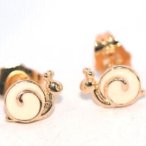 safety childrens kids baby little girls stud  snail earrings gold jewelry earing