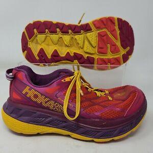 Hoka Stinson ATR 4 Size 7 Womens Running Shoes Red Purple
