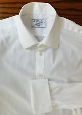 Mens white shirt Charles Tyrwhitt Jermyn Street long sleeved Collar size 17