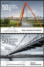 ICELAND 2018 EUROPA CEPT.BRIDGES .Set of 2 stamps Self adhesive