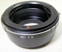 Minolta MD/MC Lens to FX Camera mount adapter Fuji Fujifilm  X-Pro 1 2 T10 X-M1
