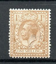 GB George V Hinged Mint SG 429  1s Brown as scan