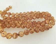 Amber Acrylic Round beads 12mm. Light weight brown amber beads.