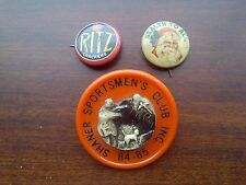 LOT OF 3 -- VINTAGE BUTTONS / PINS / PIN-BACKS -- RITZ CRACKERS / HEALTH TO ALL