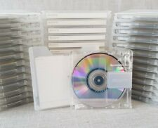 x5 Sony Neige Recordable MD 80 Minute CLEAR Minidiscs ☆ USED ☆ PLEASE READ ☆