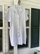 Clinique Makeup Consultant White Lab Coat size 16 Fully Lined