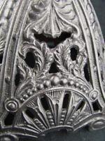 SUPERB VICTORIAN CAST IRON OIL LAMP BASE,  DECORATIVE PANELS, PIERCED DETAIL
