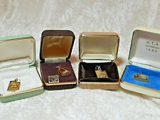Gold Plated 24 K Charms St. Louis San Francisco A.T.A. lot of 4