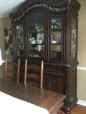 OLD? ANTIQUE? SOLID WOOD!! DINING ROOM HUTCH CHINA CABNET MD PICK UP!