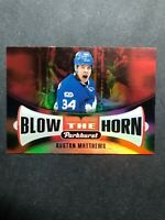 2017-18 Parkhurst Blow The Horn #BH-6 Auston Matthews Toronto Maple Leafs Insert