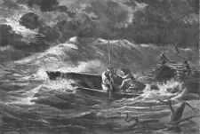 BRAZIL. Trombetas. storm, Amazon 1880 old antique vintage print picture