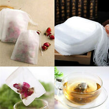 100 X non-woven Empty Teabags String Heat Seal Filter Paper Herb Loose Tea Bag F