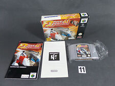 GAME N64 F1 POLE POSITION COMPLETE MANUAL game BOX lack holds