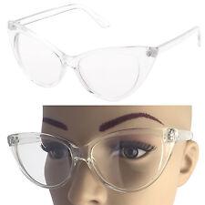 Vintage Retro Cat Eye Large Frame Pointy Edges Nikita Clear Lenses Eyeglasses