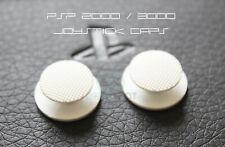 2 x PSP Analog Joystick Caps (PSP 2000, 2XXXX) White - UK Dispatch
