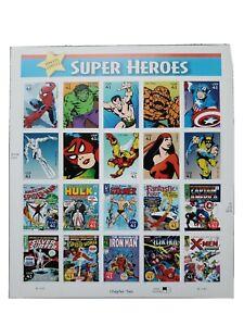 US: 2007 MARVEL COMICS SUPER HEROES MNH Sheet of 20 - Sc 4159, Hulk, Spider-Man