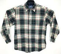 Pendleton Multicolor Plaid 100% Wool Button Front Long Sleeve Shirt Men Size L
