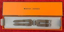 Bracelet Hermès Manchette Double Boucle pour Apple Watch 38/40 mm couleur étoupe
