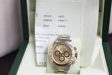 ROLEX DAYTONA 16523 18K YELLOW GOLD & STAINLESS STEEL CHAMPAGNE DIAL