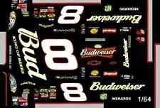 #8 Dale Earnhardt jr Tribute to Dad 2006 1/64th Ho Scale Waterslide Decals