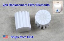 2pk Replacement Filter Core for Bathroom In-Line Shower Head Water Softener