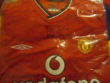 Sir Alex Ferguson Signed Manchester United Home Football Shirt COA /she