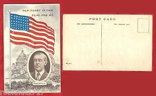 Postcard Stars and Stripes President Wilson OLD GLORY is the FLAG for me 1121 R