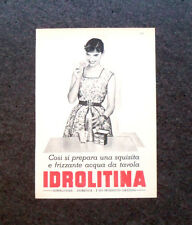 L733 - Advertising Pubblicità - 1960 - IDROLITINA, ACQUA DA TAVOLA FRIZZANTE