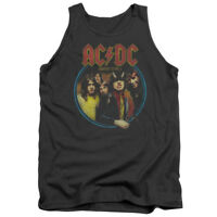 ACDC AC-DC Rock Band HIGHWAY TO HELL Album Cover Distressed Tank Top All Sizes
