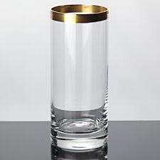 1 Ingrid Glas Becher Goldrand Ingridglas IG 14,3 cm Vintage Saftglas Wasserglas